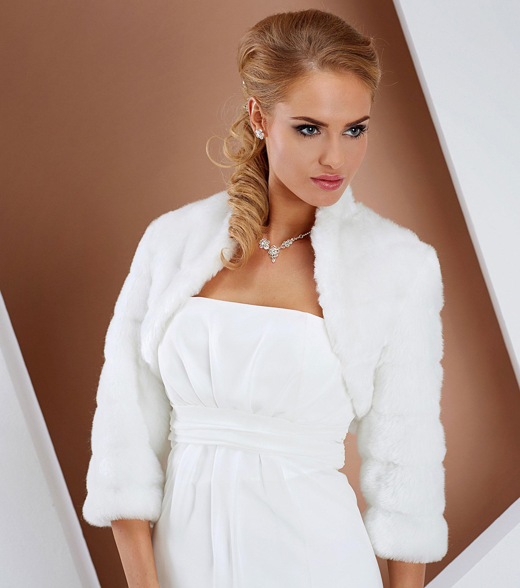 Faux Fur And Bolero Jackets - Bleu Bridal Gowns